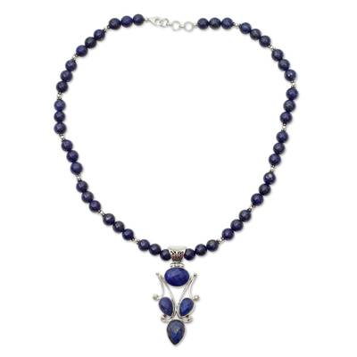 Handmade Lapis Lazuli and Silver Necklace