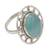 Chalcedony cocktail ring, 'Mumbai Sky' - Modern Silver Ring with Blue Chalcedony (image 2a) thumbail