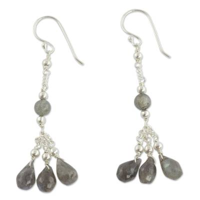 Handcrafted Indian Earrings with Labradorite