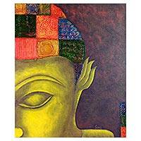 'Sakyamuni' - Buddha Painting Signed India Buddhism Fine Art