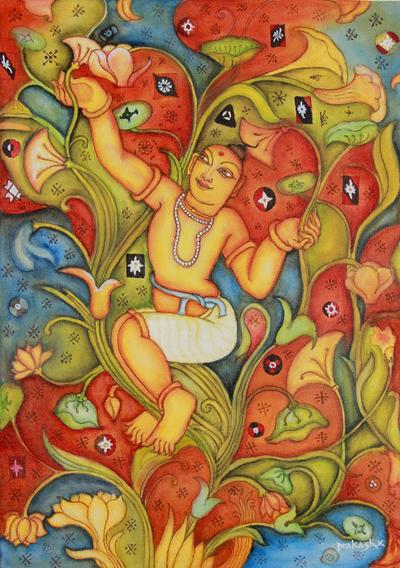 India Signed Fine Art Painting