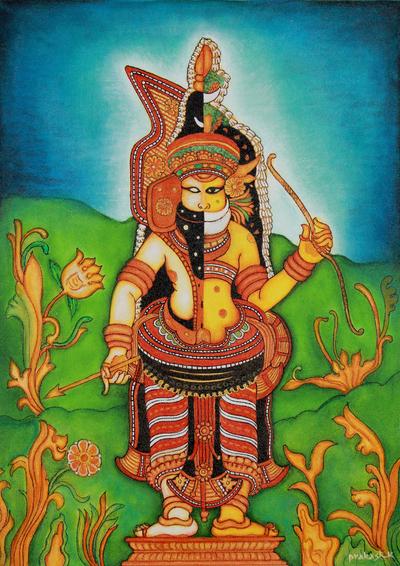 Kerala Style Painting of Muthappan