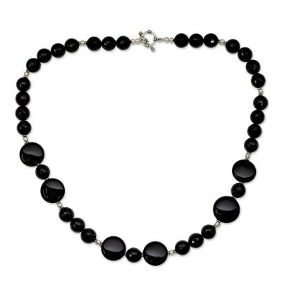 Modern Black Onyx Necklace
