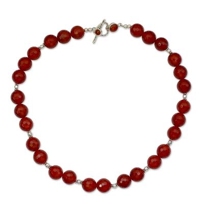 Modern Carnelian Necklace