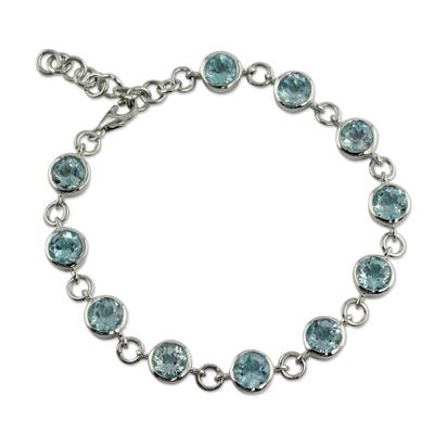 Handmade Blue Topaz Bracelet from India