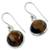 Tiger's eye dangle earrings, 'Lucky Hunch' - Tiger's Eye Earrings Sterling Silver Jewelry (image 2b) thumbail