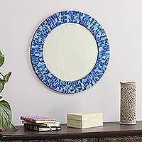 Glass mosaic mirror, 'Tropical Fusion'