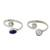 Cultured pearls and lapis lazuli toe rings, 'Perfection' (pair) - Pearl and Lapis Lazuli Sterling Silver Toe Rings (Pair) (image 2a) thumbail
