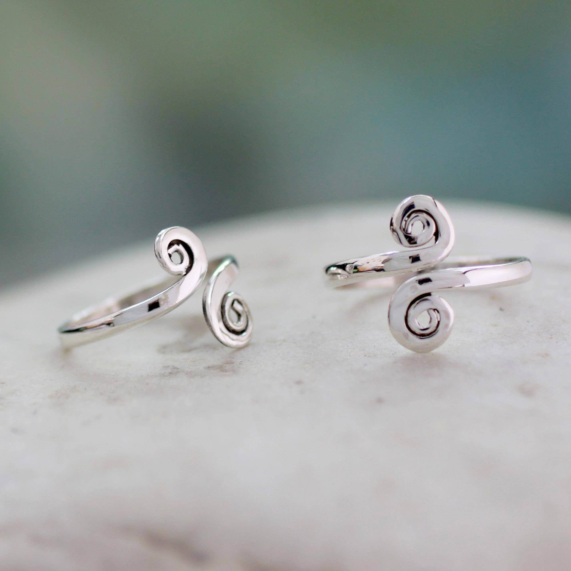 unicef uk market handcrafted sterling silver toe rings