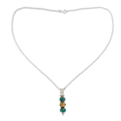 Citrine and Turquoise Necklace