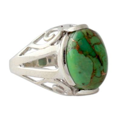 Green Composite Turquoise Ring