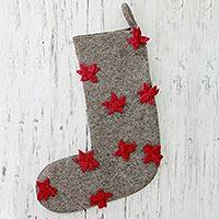 Wool Christmas stocking,
