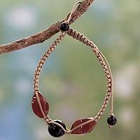 Onyx Shambhala-style bracelet,