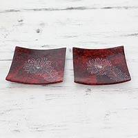 Soapstone catchall trays,
