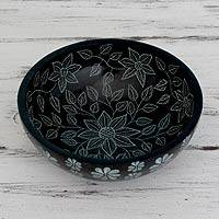 Soapstone decorative catchall bowl,