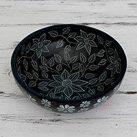 Soapstone decorative catchall bowl,