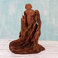Reclaimed wood sculpture, 'Father' - Reclaimed Wood Sculpture from India