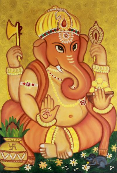 Original Ganesha Religious Painting