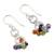 Multi-gemstone chakra earrings 'Radiance' - Sterling Silver Earrings Multi Gemstone Chakra Jewelry (image 2b) thumbail