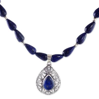 Lapis Lazuli and Sterling Silver Artisan Crafted Necklace