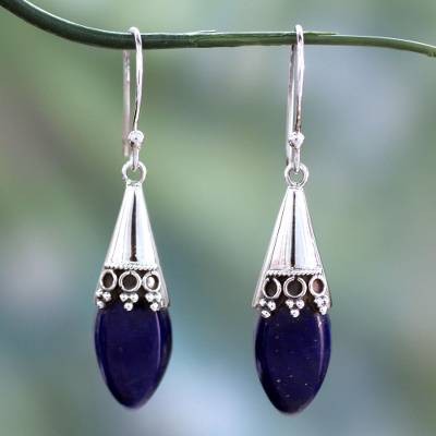 Lapis lazuli dangle earrings, Regal