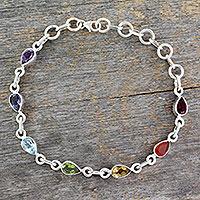 Multi-gemstone chakra bracelet,