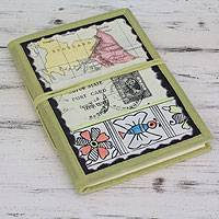 Journal, 'Journey to the Past' - India Handmade Paper Journal