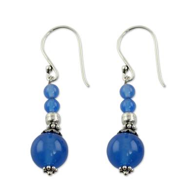 India Handmade Chalcedony Earrings