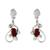Garnet dangle earrings, 'Pure Love' - 2 Carat Garnet and Sterling Silver Earrings (image 2a) thumbail