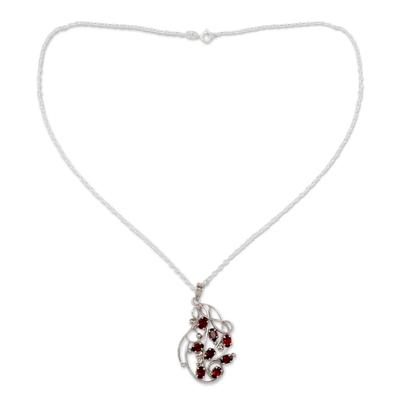 Silver Handmade Garnet Necklace