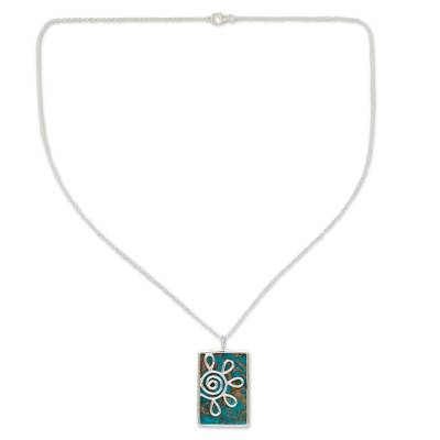 Reconstituted Turquoise Pendant Necklace