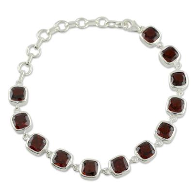 Garnet Bracelet Fair Trade Jewelry