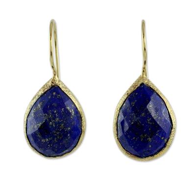 Lapis Lazuli and Vermeil Earrings