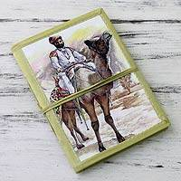 Handmade paper journal, 'Rajasthani Gentleman' - 48-page Handmade Paper Handcrafted Journal