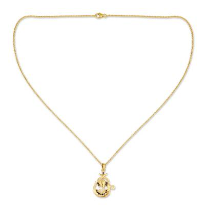 Sapphire and Gold Vermeil Necklace