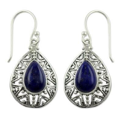 Fair Trade Lapis Lazuli Handcrafted Earrings