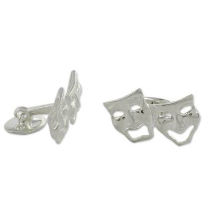 High Polished Sterling Silver Cufflinks