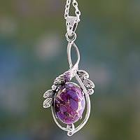 Sterling silver pendant necklace, Sugarplum