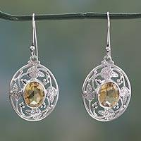 Citrine dangle earrings,
