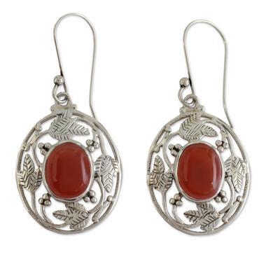 Fair Trade Sterling Silver Carnelian Earrings