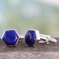 Lapis lazuli cufflinks,