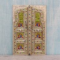 Meenakari wall panel, 'Royal Entrance' - Handcrafted Meenakari Decorative Wall Panel