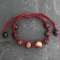 Agate Shambhala-style bracelet,
