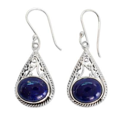 Fair Trade Lapis Lazuli and Sterling Silver Earrings