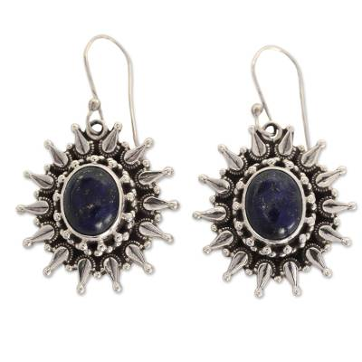 Fair Trade Lapis Lazuli and Sterling Dangle Earrings