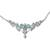 Blue topaz pendant necklace, 'Azure Radiance' - Rhodium Plated Silver and Blue Topaz Pendant Necklace (image 2b) thumbail