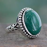 Jade cocktail ring, 'Jade Forest'