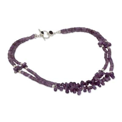 Double Strand Beaded Amethyst Necklace from India