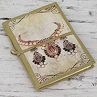 Handmade paper journal, 'Rajasthani Royals' - Artisan Crafted 48-Page Journal with Handmade Paper
