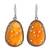 Carnelian dangle earrings, 'Maharashtra Blossom' - Hand Carved Carnelian Flower Earrings with CZ from India (image 2a) thumbail